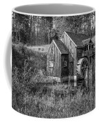 Old Grist Mill In Vermont Black And White Coffee Mug