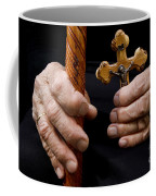 Old Hands And Crucifix  Coffee Mug