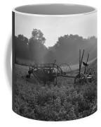 Old Hay Baler In Misty Field Coffee Mug