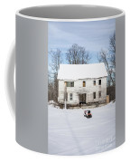 Old House In The Snow Springfield New Hampshire Coffee Mug