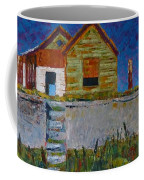Old House With Lamppost Coffee Mug