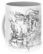 Old Houses And Boats Coffee Mug