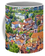 Old Ljubljana Cityscape Aerial View Coffee Mug
