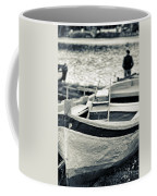 Old Man And Boat Coffee Mug