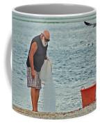 Old Man And The Net Coffee Mug