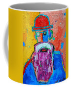 Old Man With Red Bowler Hat Coffee Mug
