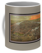 Old Manhattan Historic Illustration Coffee Mug