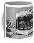 Old Mesilla Plaza And Gazebo Coffee Mug by Jack Pumphrey