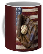 Old Mitt And Baseball Coffee Mug by Garry Gay