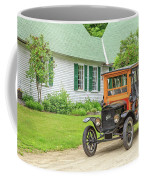 Old Model T Ford In Front Of House Coffee Mug
