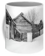 Old New England Barns In Winter Coffee Mug