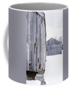 Old New England Barns Winter Coffee Mug