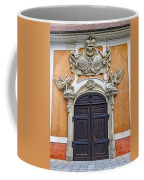 Old Ornate Door At The Cesky Krumlov Castle At Cesky Krumlov In The Czech Republic Coffee Mug