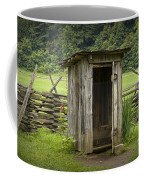 Old Outhouse On A Farm In The Smokey Mountains Coffee Mug by Randall Nyhof