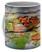 Old Paint On Wood Coffee Mug