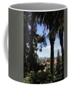 Old Palm Trees And Downtown Los Angeles Coffee Mug