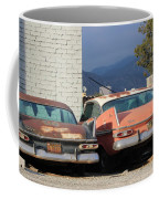 Old Plymouths With Mountain View  Coffee Mug