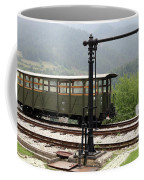 Old Railway Station With Wooden Wagon Coffee Mug