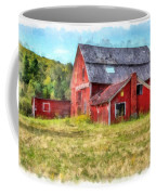 Old Red Barn Abandoned Farm Vermont Coffee Mug