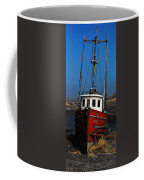 Old Rustic Red Fishing Boat Coffee Mug