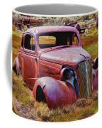 Old Rusty Car Bodie Ghost Town Coffee Mug