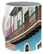 Old San Juan Houses In Historic Street In Puerto Rico Coffee Mug