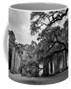 Old Sheldon Church Ruins Black And White 3 Coffee Mug