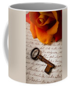 Old Skeleton Key On Letter Coffee Mug
