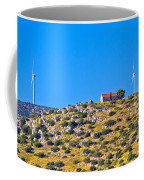 Old Stone Church And Green Energy Plant Coffee Mug