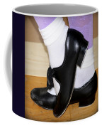 Old Tap Dance Shoes With White Socks And Wooden Floor Coffee Mug