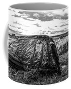 Old Tarred Boat On Holy Island 2 Coffee Mug