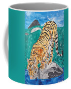 Old Tiger Drinking Coffee Mug