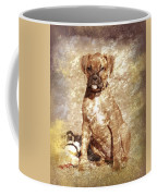 Old Time Boxer Portrait Coffee Mug by Angie Tirado