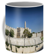 Old Town Citadel Walls Of Jerusalem Israel Coffee Mug