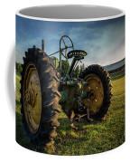 Old Tractor In The Field Outside Of Keene Nh Coffee Mug by Edward Fielding