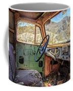 Old Truck Interior Nevada Desert Coffee Mug
