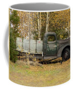 Old Truck With Potato Barrels Coffee Mug