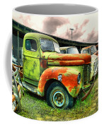 Old Trucks In A Row Coffee Mug