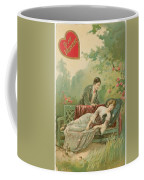 Old Victorian Era Valentine Card Coffee Mug