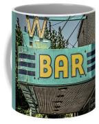 Old Vintage Bar Neon Sign Livingston Montana Coffee Mug