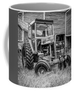 Old Vintage Tractor On A Farm In New Hampshire Square Coffee Mug