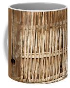 Old Wall Made From Bamboo Slats Coffee Mug