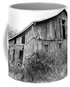 Old West Virginia Barn Black And White Coffee Mug