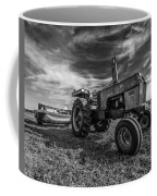 Old White Tractor In The Field Coffee Mug