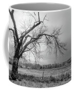 Old Winter Tree Grayscale Coffee Mug