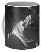 Old Woman In The Canyon Black And White Coffee Mug