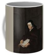 Old Woman Meditating, Gabriel Metsu, C. 1661 - C. 1663 Coffee Mug