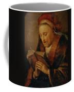 Old Woman Praying Coffee Mug