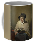 Old Woman Reading, Cornelis Kruseman, 1820 - 1833 Coffee Mug