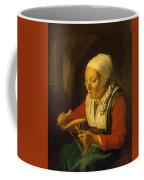Old Woman Unreeling Threads 1665 Coffee Mug